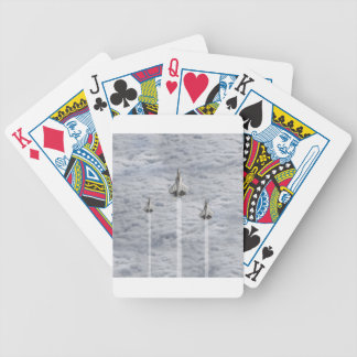 Climbing Jets in the Clouds Bicycle Playing Cards
