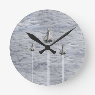 Climbing Jets in the Clouds Clock