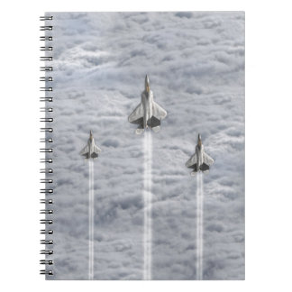 Climbing Jets in the Clouds Spiral Notebook