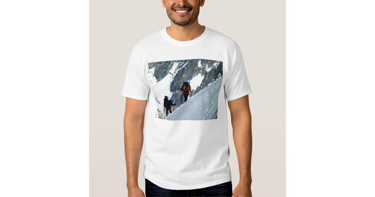 Climbing Mont Blanc Tshirts Zazzle