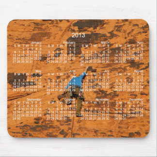Climbing on Red Rocks; 2013 Calendar Mouse Pad