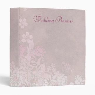 Climbing Pink Rose Wedding Planner Binder