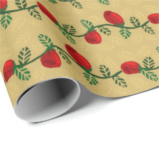 Climbing Red Roses Gift Wrap