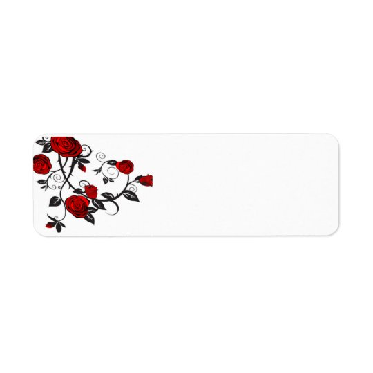 Climbing Red Roses Return Address Label