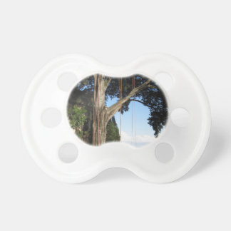 Climbing ropes hanging from a big tree baby pacifier