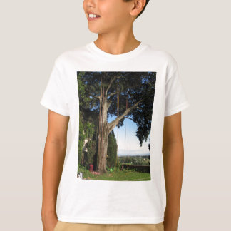 Climbing ropes hanging from a big tree T-Shirt