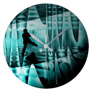 climbing the frozen waterfall, clocks