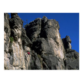 Climbing the vertical, Utah rock formation Postcard