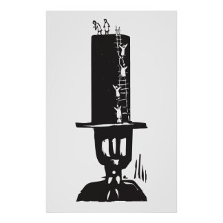 Climbing to the Top Hat Poster