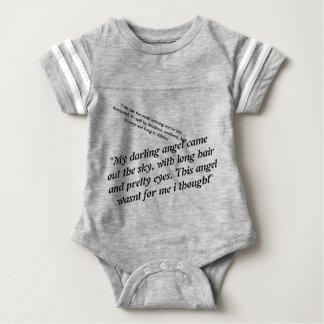 Climbing Trees: Words to An Angel Baby Bodysuit