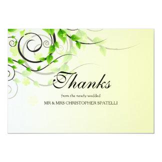 "Climbing Vine Thank You Card 5"" X 7"" Invitation Card"