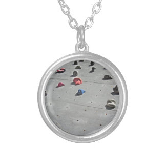 Climbing wall silver plated necklace