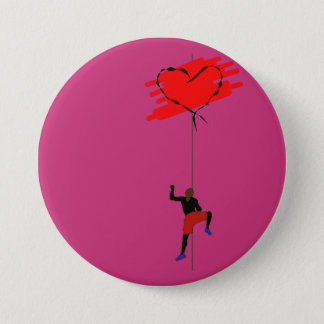 climbing your heart 3 inch round button