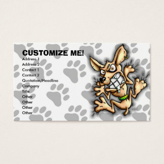 Cling Chihuahua Dog Business Card