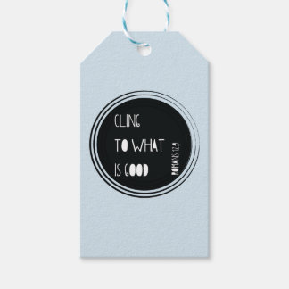 """Cling to what is good"" Bible verse Gift Tags"