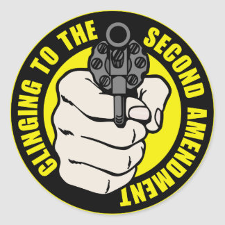 Clinging to the Second Amendment Classic Round Sticker
