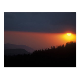 Clingman's Dome Sunset, Great Smoky Mountains Postcard