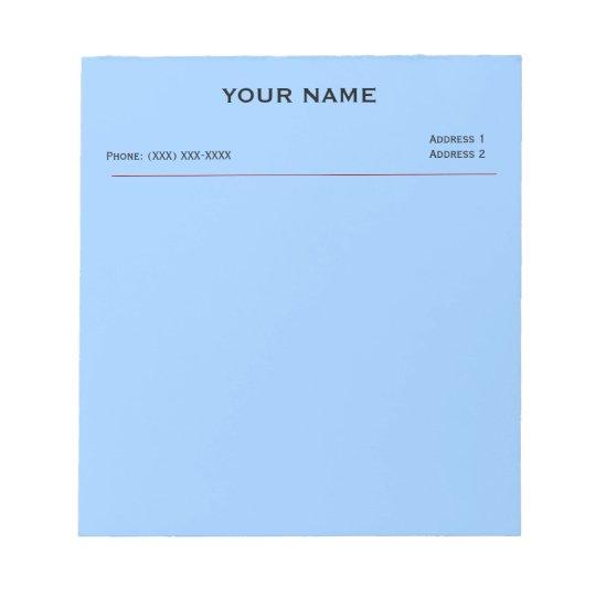 Clinic Memo Pads (Sky Blue)