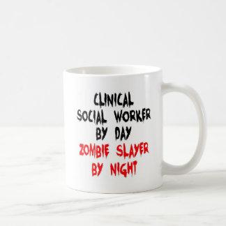 Clinical Social Worker Zombie Slayer Basic White Mug