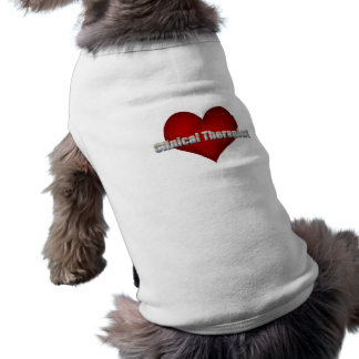 Clinical Therapist chrome font and Red Heart Dog Tee