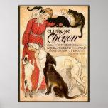 Clinique Cheron Vintage Veterinary Advertisement Print