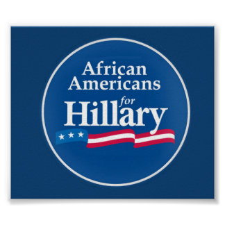 Clinton African Americans Poster