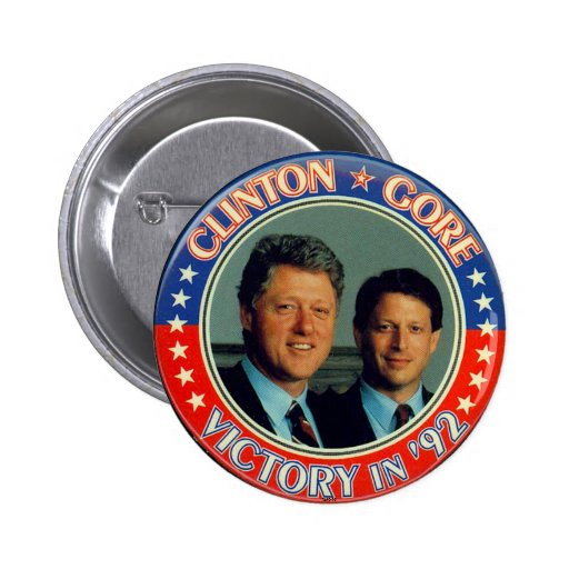 Clinton and Gore '92 jugate Pinback Buttons