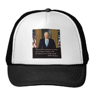 Clinton and truth trucker hats