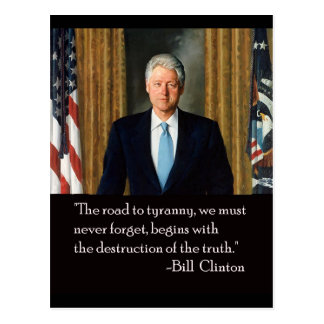Clinton and truth postcard
