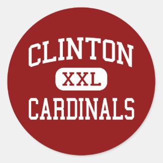 Clinton - Cardinals - High - Clinton Missouri Round Sticker