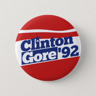 Clinton Gore 92 2 Inch Round Button