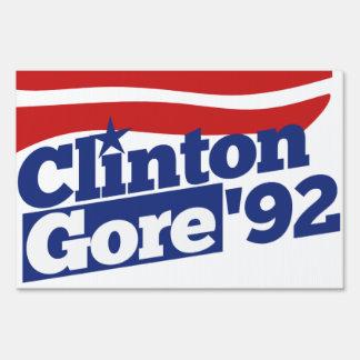 Clinton Gore 92 retro politics Sign