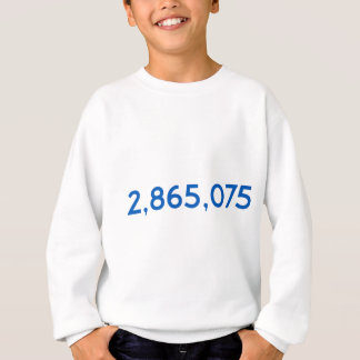 Clinton Got This Many More Votes Sweatshirt