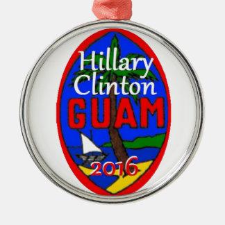 Clinton Guam 2016 Silver-Colored Round Ornament