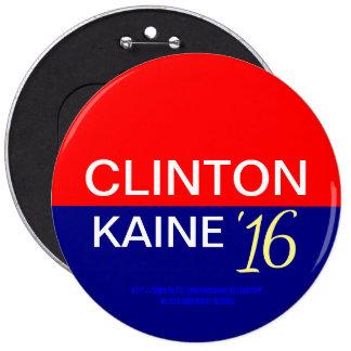 Clinton Kaine '16 6 Inch Round Button