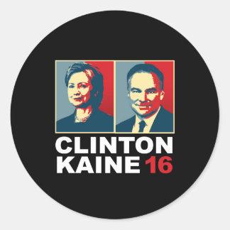 Clinton Kaine 16 - Posterized -- Round Sticker