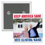 Clinton/Kaine 2016 2 Inch Square Button