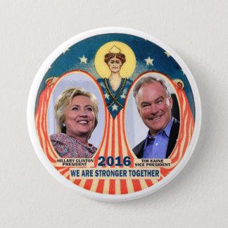 Clinton/Kaine 2016 3 Inch Round Button