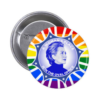 Clinton Kaine  2016 A Woman's Place 2 Inch Round Button
