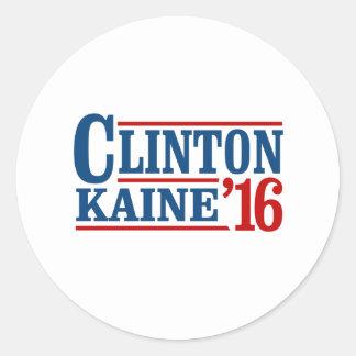 Clinton Kaine 2016 - Retro Sign - Round Sticker