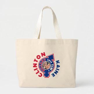 Clinton Kaine Yin Yang 2016 Large Tote Bag