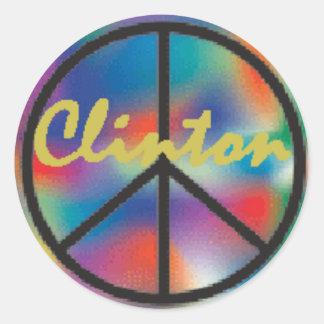 Clinton PEACE Sticker