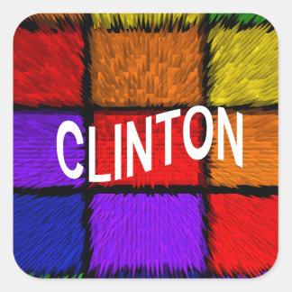 CLINTON SQUARE STICKER