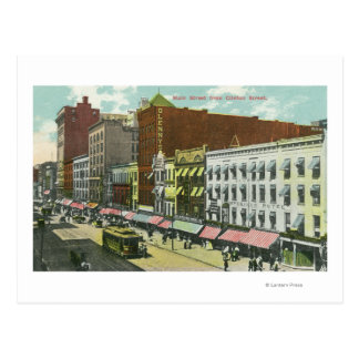 Clinton Street View of Main Street Postcard