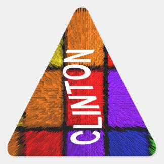 CLINTON TRIANGLE STICKER