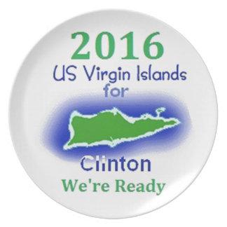 Clinton Virgin Islands 2016 Dinner Plate