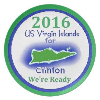 Clinton Virgin Islands 2016 Plates