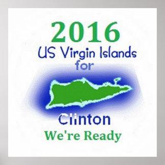 Clinton Virgin Islands 2016 Poster