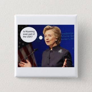 Clinton-Wyoming 2 Inch Square Button