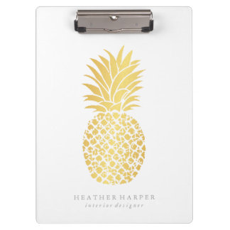 Clipboard - Gold Pineapple